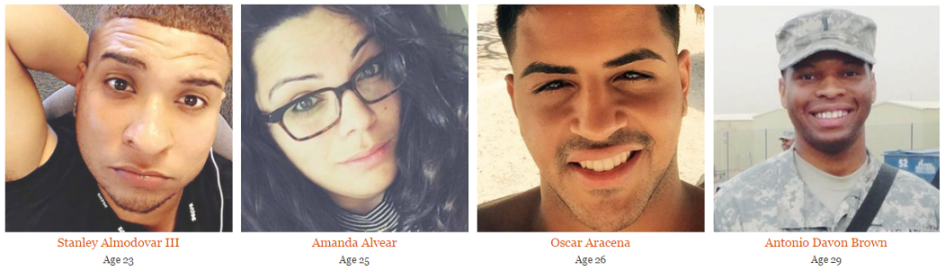 Victims of Orlando Shootiong